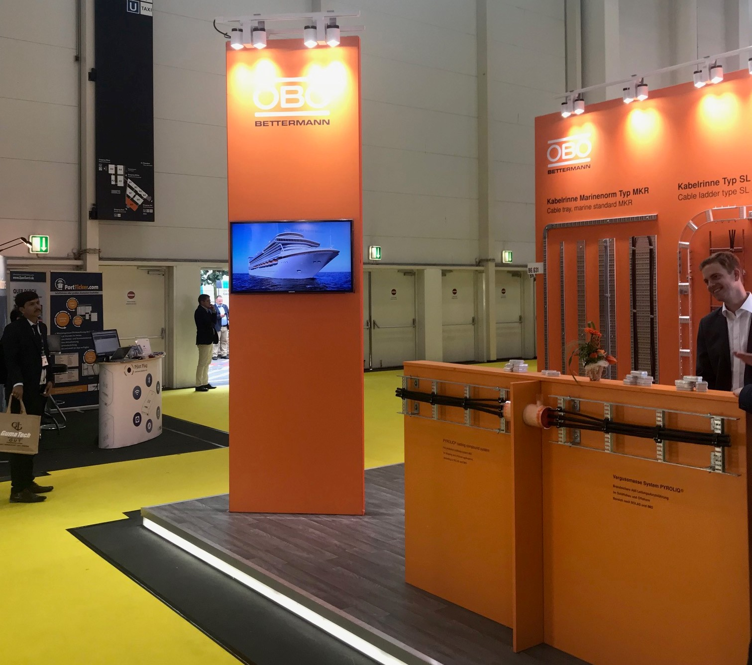 OBO Bettermann Messestand auf der Wind Energy 2018