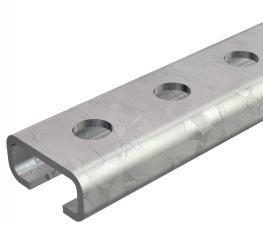 Profilschiene CL2712, Schlitz 12 mm, FS, gelocht