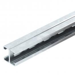 Montageschiene MS4142, Schlitz 22 mm, doppelt, FS, gelocht