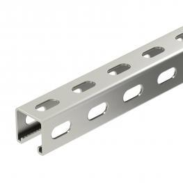 Montageschiene MS4141, Schlitz 22 mm, Seitenlochung FS (FT/A2/A4)