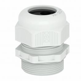 Hutmutterkabelverschraubung, metrisches Gewinde mit Mehrfachdichteinsatz, lichtgrau