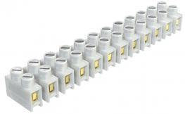 Reihenlüsterklemmen, 4 mm², Drahtschutzbügel, Polyamid