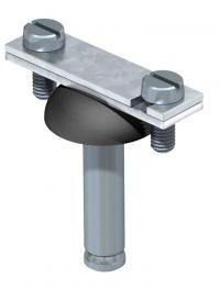 Abstandschelle für Flachleiter, mit Stahlspreizdübel Ø 10