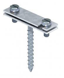 Abstandschelle für Flachleiter, mit Holzschraube