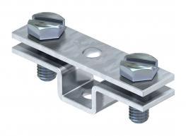Abstandschelle für Flachleiter, mit Befestigungsloch Ø 6,5