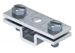 Abstandschelle für Flachleiter, mit Befestigungsloch Ø 7