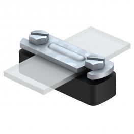 Abstandschelle für Flachleiter, mit Polyamidunterteil