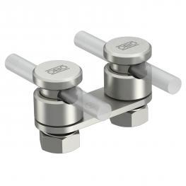 Verbinder Rd 8-10 mm, 2fach mit Druckwanne