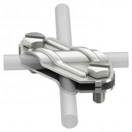 Kreuzverbinder für Rund- und Flachleiter Edelstahl