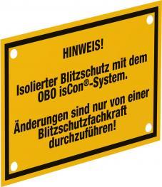isCon®-Hinweisschild