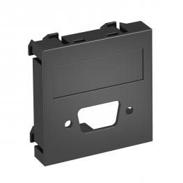 Multimediaträger für VGA/D-Sub9 Steckverbinder, 1 Modul, Auslass gerade