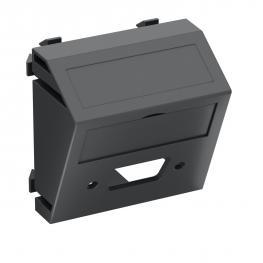 Multimediaträger für VGA / D-Sub9 Steckverbinder, 1 Modul, Auslass schräg