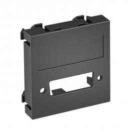 Multimediaträger für DVI Steckverbinder, 1 Modul, Auslass gerade