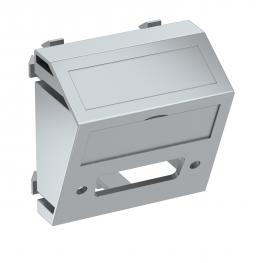 Multimediaträger für DVI Steckverbinder, 1 Modul, Auslass schräg