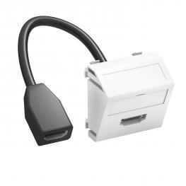 HDMI-Anschluss, 1 Modul, Auslass schräg, mit Anschlusskabel