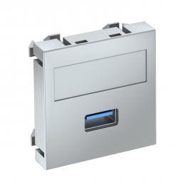 USB 2.0/3.0-Anschluss, 1 Modul, Auslass gerade, als Schraubanschluss