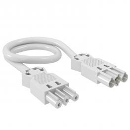 Verbindungsleitung 3-adrig, PVC, Querschnitt 2,5 mm², Leitungslänge 1 m, weiß