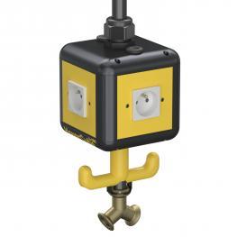 HoverCube VH-4, 4 x Erdungstift-Steckdose, mit Druckluftanschluss