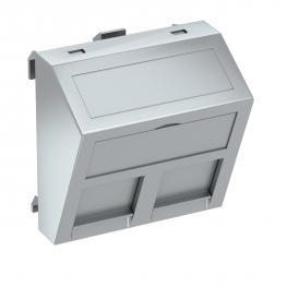 Datentechnikträger, 1 Modul, Auslass schräg, Typ RM