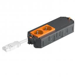 UTC4 W mit 2 Schutzkontakt-Steckdosen, orange