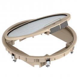 Geräteeinsatz GESR9 mit Teppichschutzrahmen im Klappdeckel