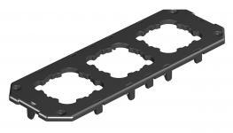 Abdeckplatte für Gerätebecher GB3, runde Einbauöffnung für EK-Gerät