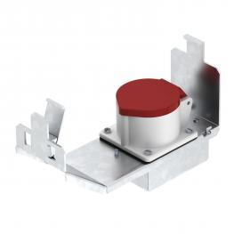 Geräteträger für CEE-Einbau, Systemlänge 208 mm, mit CEE