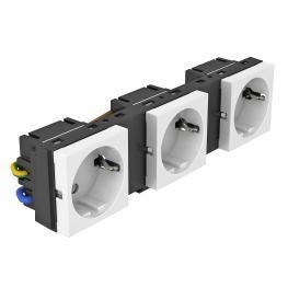 Einbaurahmen für MT45V, konfektioniert, mit Schutzkontakt-Steckdose