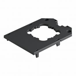 Abdeckplatte für Universalträger UT4, runde Einbauöffnung für EKR-Gerät