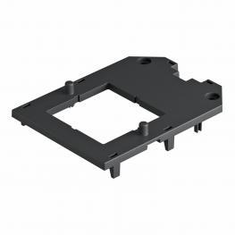 Abdeckplatte für Universalträger UT3 und UT4, mit Einbauöffnung für EKR-Gerät, mit Schraubbefestigung