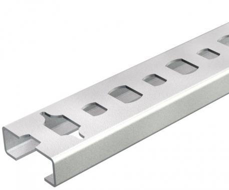 Profilschiene CL2008, Schlitz 11 mm, gelocht, abbrechbar