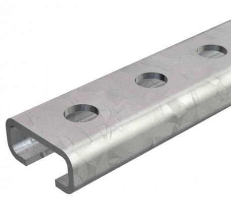 Profilschiene CL2712, Schlitz 12 mm, gelocht