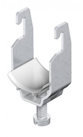 Bügelschelle, 1-fach Kunststoffdruckwanne ALU