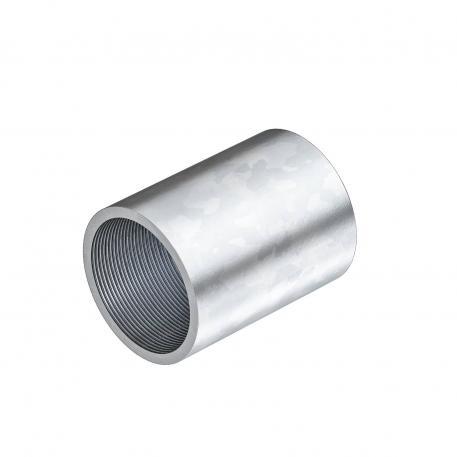 Galvanisch verzinkte Stahlmuffe, mit Gewinde