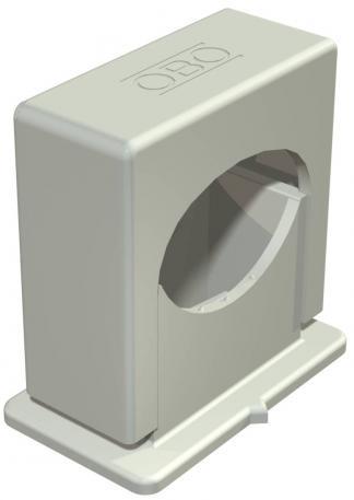 Druck-ISO-Schelle 3050, 1-fach lichtgrau