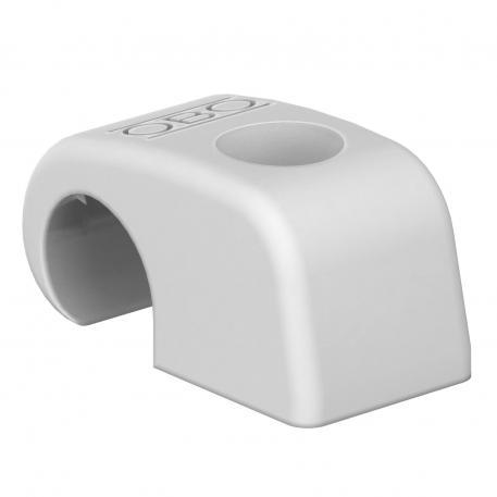 Haft-Clip Typ 4041, ohne Nagel, lichtgrau