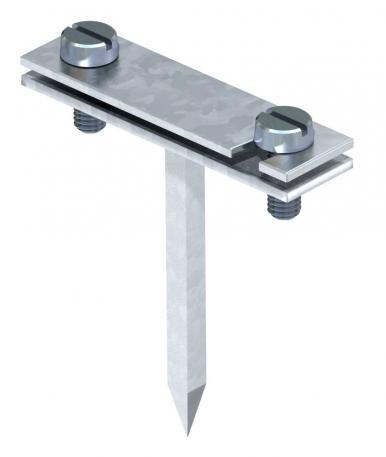 Abstandschelle für Flachleiter, mit Vierkantstift