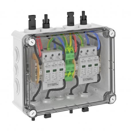 PV-Systemlösung Typ 2 mit MC4-Stecker für WR mit 2 MPP-Tracker, 1000 V DC