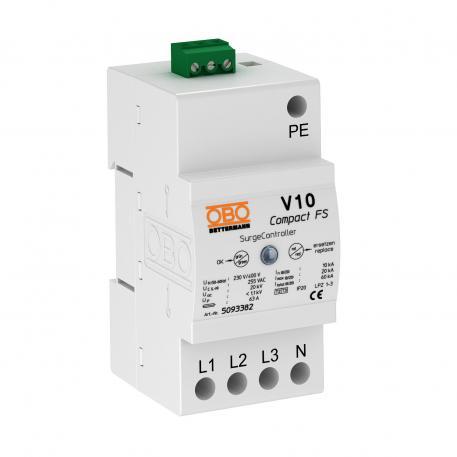 Überspannungsableiter V10 Compact mit Fernsignalisierung 255 V