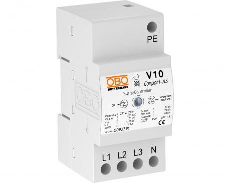 Überspannungsableiter V10 Compact mit akustischer Signalisierung 255 V