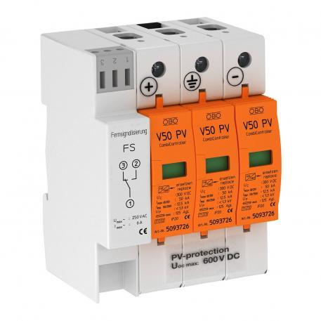 PV-Kombiableiter V50, 600 V DC mit Fernsignalisierung
