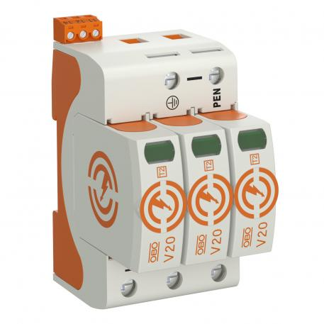 Überspannungsableiter V20, 3-polig mit FS 280 V