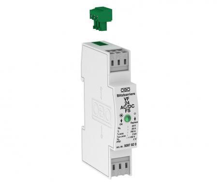 MSR-Schutz für 2-polige Stromversorgung mit Fernsignalisierung 12 V AC/DC