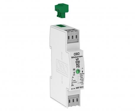 MSR-Schutz für 2-polige Stromversorgung mit Fernsignalisierung 230 V AC
