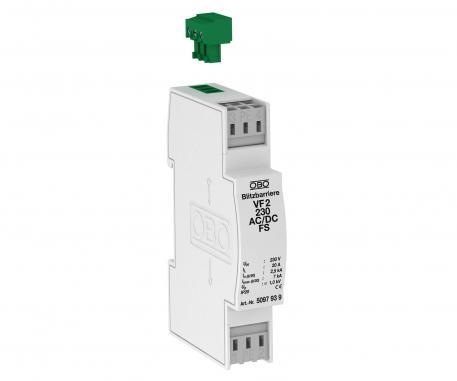 MSR-Schutz für 2-polige Stromversorgung mit leckstromfreier Fernsignalisierung 230 V AC/DC