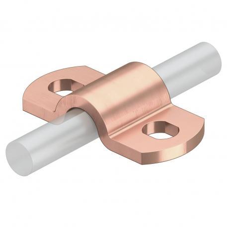 Leitungshalter, Oberteil für Rd 8-10 mm, Kupfer