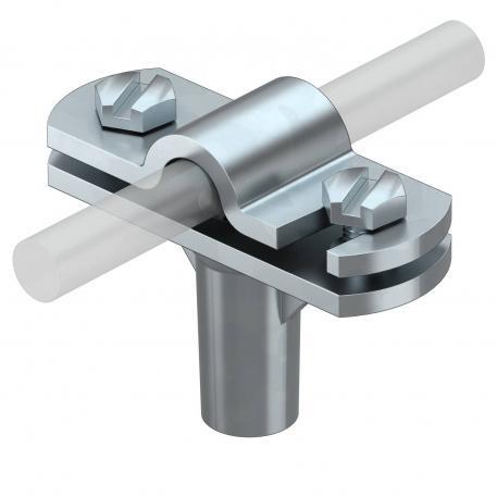 Leitungshalter Rd 8-10 mm, 30 mm Montagehöhe, verzinkt