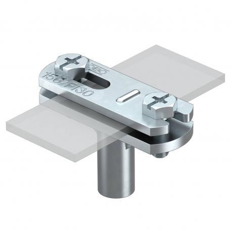 Leitungshalter FL, 30 mm Montagehöhe verzinkt
