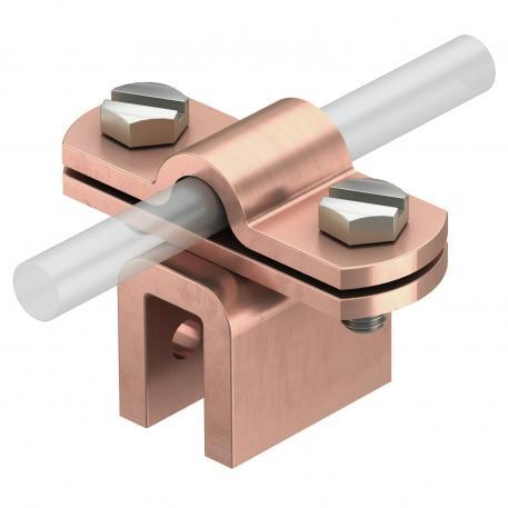 Falzklemme Rd 8-10 bis 10 mm Blechstärke Cu