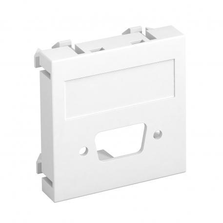 Multimediaträger für VGA / D-Sub9 Steckverbinder, 1 Modul, Auslass gerade